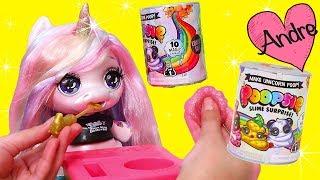 Gambar cover La muñeca Unicornio come comida que se hace slime | Muñecas y juguetes con Andre para niñas y niños