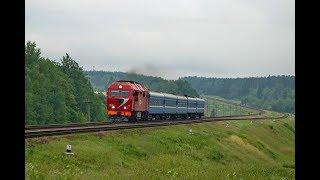 Тепловоз ТЭП70БС-206 с поездом № 634 Могилёв - Гродно.