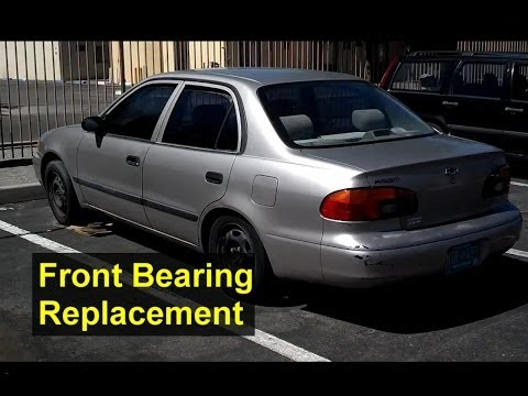 Wheel hub, knuckle replacement on a Geo, Chevrolet Prizm, Toyota Corolla - Auto Repair Series
