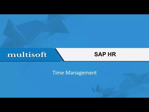 Learning Time Management in SAP HR Online Training Video ...