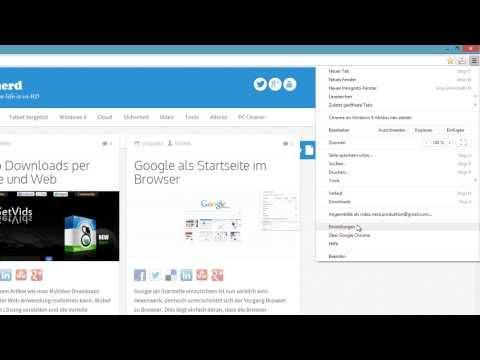Google als Startseite bei den verschiedenen Browsern