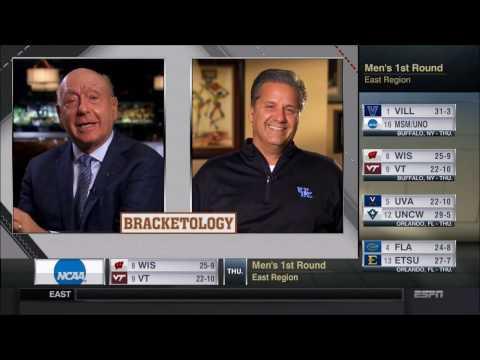 John Calipari Interview on Bracketology (ESPN) - 2017 NCAA Tournament
