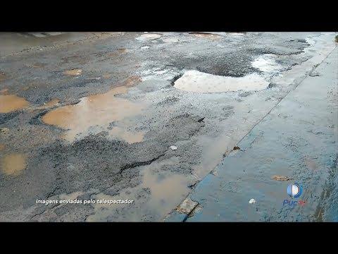 Moradores de Aparecida de Goiânia denunciam o mau estado de conservação das ruas da cidade