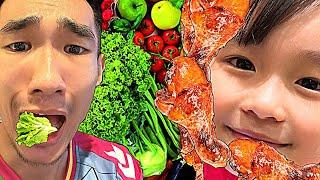 Laytv - Chỉ Mua Rau Ăn Vs Chỉ mua THỊT Ăn - Eat - Food - Buy