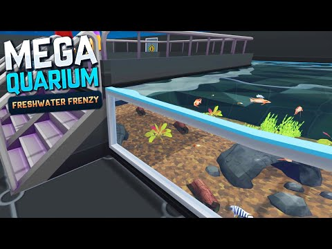 NEW DLC & ANIMALS! Let's Build A FRESHWATER Aquarium! | Megaquarium - Freshwater Frenzy