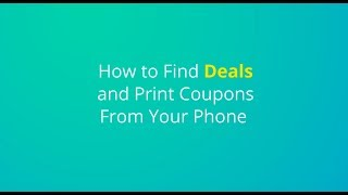 Finding Deals & Printing Coupons with the KCL App