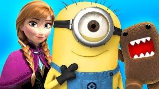 GMOD FUNNY MOMENTS MONTAGE! | (Despicable Me, Domo, Disney Princesses)