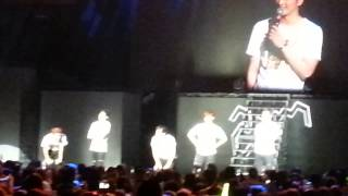2pm's Junho saying thank you to the audience Los Angeles 2014 Nov