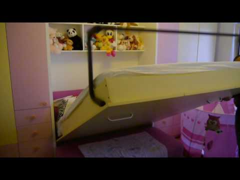 Dormitor  Copil cu Pat Rabatabil si Canapea D 194
