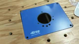 How to drill mounting holes in the kreg precision insert plate kreg router plate installation using insert plate levelers greentooth Image collections