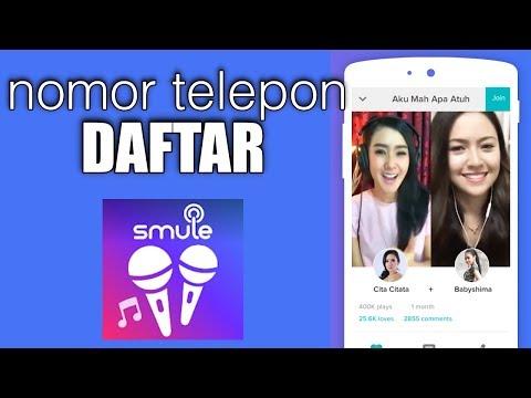 Video Cara Daftar Smule Sing Karaoke Menggunakan Nomor Telephone Seluler