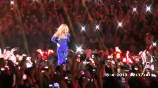 HD Beyonce FLYING OVER THE CROWD Mrs Carter World Tour Serbia + Irreplaceable