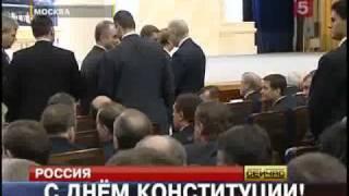 Скандал на выступлении Медведева