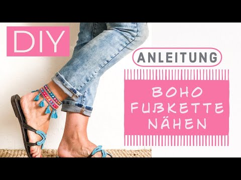 DIY - ANLEITUNG.  Hippie Fußband im Ibiza-Style, selber machen