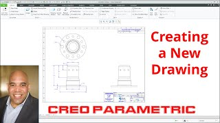 Video - Creating a New Drawing in Creo Parametric
