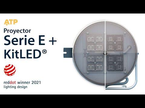 Red Dot Design Award 2021 - Proyector Serie E + KitLED® - ATP Iluminación