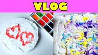 Vlog Замело снегом ● Пасха ● Мое творчество и рисунки ● Гуляем с Пальмой