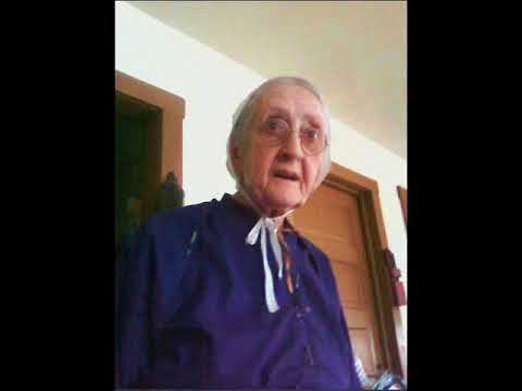 My Amish Mother's Graveside service - Susan S. (Yoder) Slabaugh - age 81 years and 5 month.