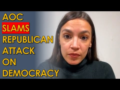 AOC HAMMERS Trump Attack on Democracy at the Capitol in Emotional Instagram Live Video