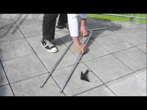 Boy-Katzennetze - Balkonabsicherung mit Teleskopstangen und Bodenhalterungen