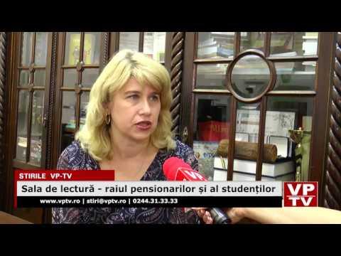 Sala de lectură – raiul pensionarilor și al studenților