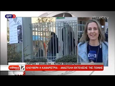 Λάρισα: Αναστολή της εκτέλεσης της ποινής της 53χρονης καθαρίστριας | 28/11/18 | ΕΡΤ