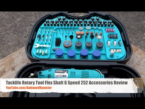 Dremel Alternative: Tacklife Rotary Tool Review – Includes Flex Shaft, 6 Speed, 252 Accessories