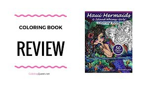 Maui Mermaids Island Whimsy Girls Coloring Book Review
