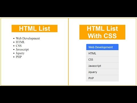Html list style with css 3 | web zone
