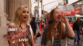 Guest Host Jennifer Lawrence Surprises People on Hollywood Blvd.