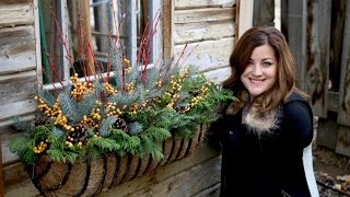 Add Holiday Decor To Your Window Basket!