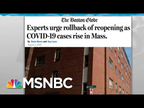 Coronavirus Resurgence Could Prompt State's Reopening Step-Back | Rachel Maddow | MSNBC