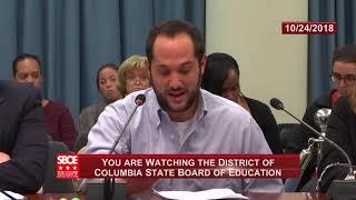 Ben Williams Testifies on Teacher Retention- State Board of Education