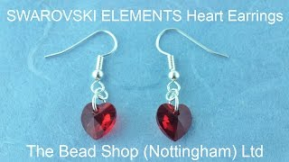 SWAROVSKI Heart Pendant Earring and Necklace Set: DIY