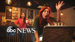 A customer trips and spills her coffee on a woman's laptop.   WATCH FULL EPISODES OF WWYD: https://abc.go.com/shows/what-would-you-do  Watch brand new WWYD episodes on Friday at 9PM on ABC! ►https://www.youtube.com/watch?v=SUlwc... Subscribe to WWYD ► http://bit.ly/WWYDSubs  Check out some of the Best WWYD? Episodes ► https://www.youtube.com/watch?v=Htytu...  Follow What Would You Do? across the web! Facebook: https://www.facebook.com/wwyd  Twitter: https://twitter.com/WWYDABC  Instagram: https://instagram.com/wwydabc/   What would you do when you think no one is watching? What Would You Do? (WWYD?) explores the varying answers with the help of hidden cameras capturing individuals who have been placed within seemingly everyday situation that quickly go ary. The individuals on this hidden camera show are forced to make tough calls when directly faced with situations of racism, violence, hate crimes, and other hot button cultural issues. Catch John Quinones reporting on these individuals as they make split-second decisions to intervene or mind their own business. WWYD? airs Friday nights at 9|8c on ABC.   What Would You Do? (WWYD) is a hidden camera show, hosted by ABC News correspondent John Quinones, in which unknowing bystanders are placed in uncomfortable, and often compromising real world scenarios in public. WWYD's hidden cameras focus on the average person's responses and reactions to these issues of social responsibility. Topics such as gay couples being affectionate in public, date rape, racism and racial profiling, interracial couples, abusive parents, drunk driving, and harassment of the homeless are touched upon in this series. What will you do? Would you choose to intervene in these situations? Watch and join the discussion.