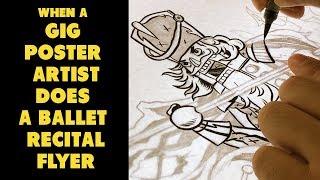 WHEN A GIG POSTER ARTIST DOES A BALLET RECITAL FLYER