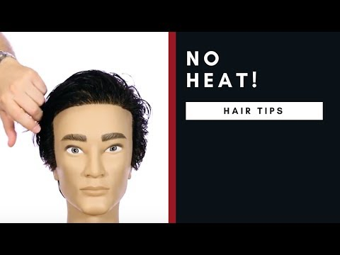 How To Style Men S Straight Hair Without Heat Barbinc News