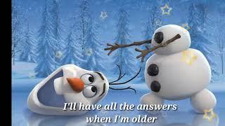 WHEN I AM OLDER by JOSH GAD (official lyrics)