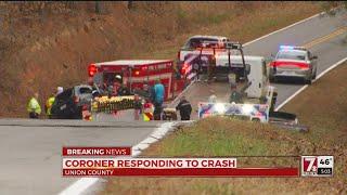 Coroner responding to crash in Union Co.
