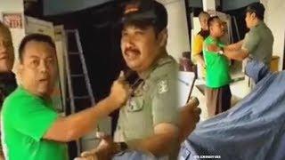 Viral Video Petugas Pol PP Ditampar Ketua RT, Emosi Tak Terima Baliho Caleg Dicopot