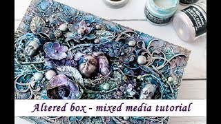 Altered Box With Opal Magic Paints - Mixed Media Tutorial