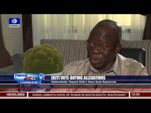 Fayemi: Ekiti Governor-elect too poor to engage in vote-buying - Oshiomhole