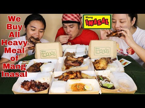We buy all Heavy Meal of Mang Inasal Pm-1 to Pm-5 also1.5 Spicy Paa and Fiesta Meal Pinoy Mukbang!