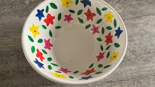 How To Colour On Washable Ceramic Bowl