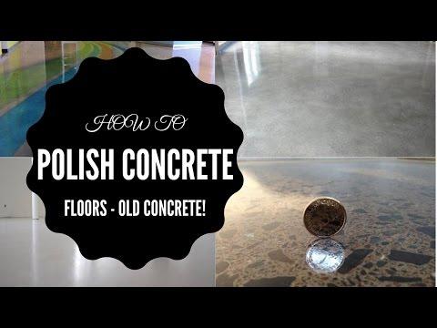 How to polish concrete floors – Old flooring – Polished Concrete UAE