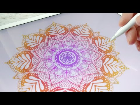 The Most Satisfying Art on IPad Pro - Apple Pencil  l Amaziograph