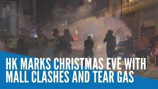 Christmas Eve chaos in Hong Kong as police and protesters clash
