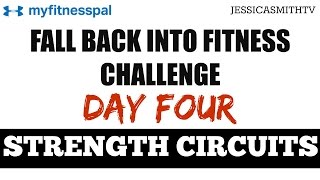30 Minute Circuit Training Full Total Body Strength Workout with Dumbbells for All Levels by jessicasmithtv