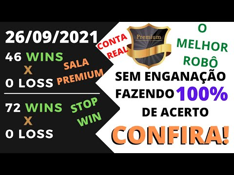 Premium bot 3.7, Sem Enganao, com 100% de acerto, Rob premium bot funciona ? 26/09/2021