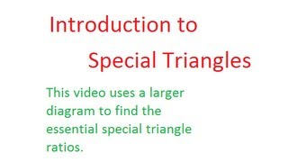 Unit 4 - Special Triangles 2